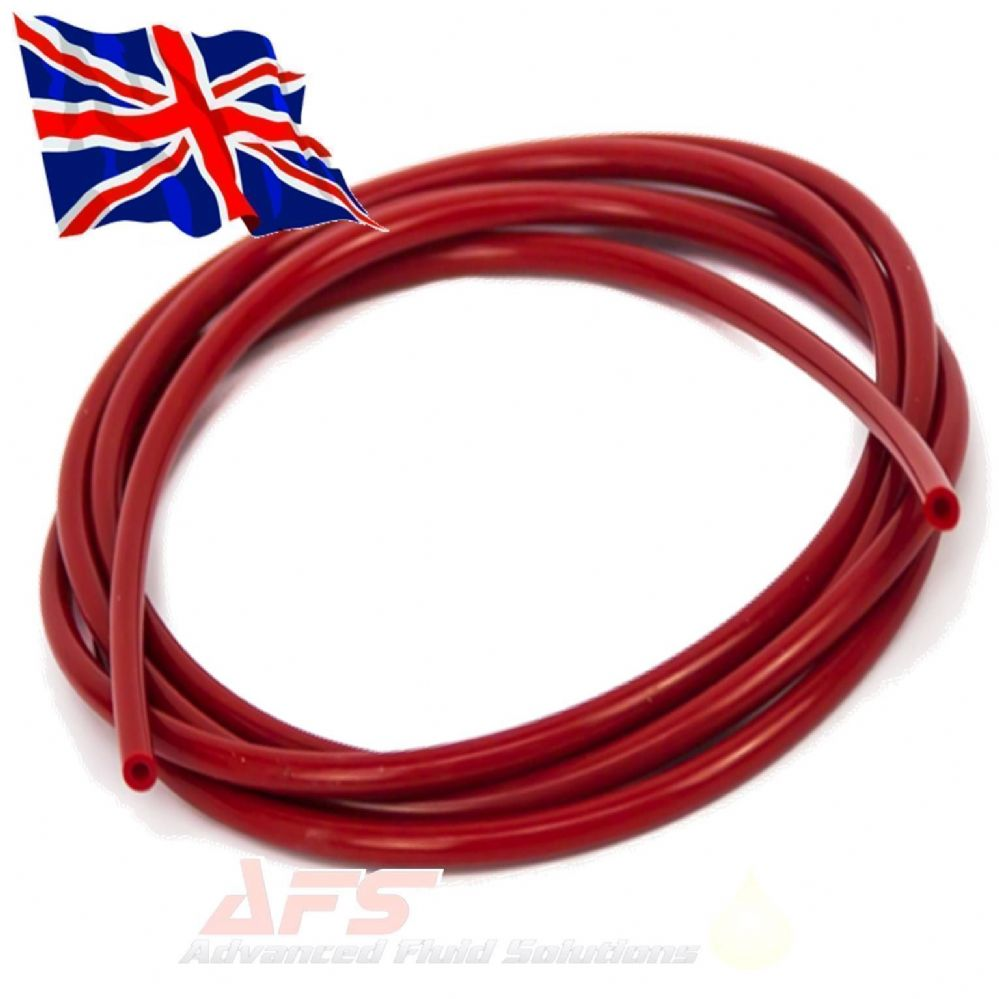 5mm 3 16 I D Red Silicone Vacuum Hose Pipe Vac Tubing